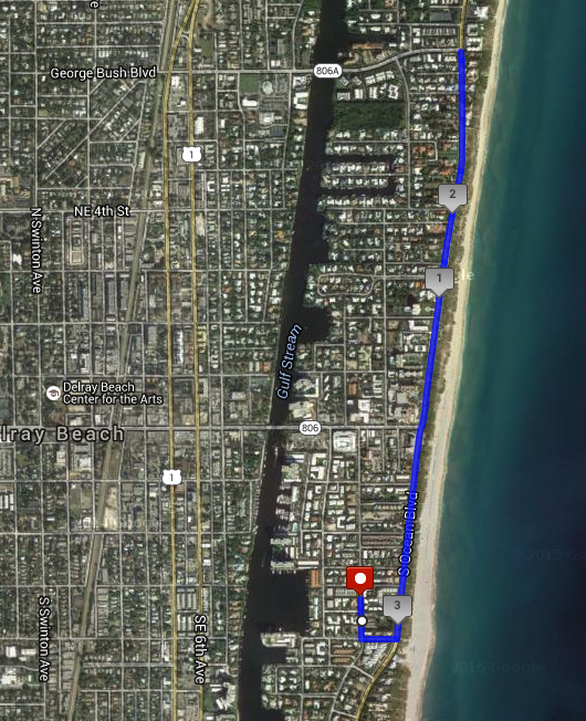 Delray Beach JBJ 5K map